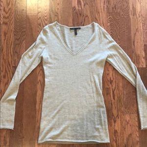 100% Cashmere BCBG MAXAZRIA Sweater in Beige